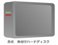 各社外付ポータブル型 500GB USB3.0