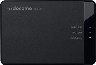 BUFFALOdocomo モバイル Wi-Fiルーター BF-01B ブラック