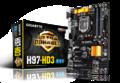 GIGABYTEGA-H97-HD3 H97/LGA1150/ATX