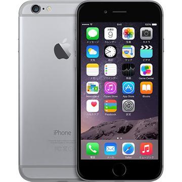 AppleiPhone 6 64GB スペースグレイ (国内版SIMロックフリー) MG4F2J/A