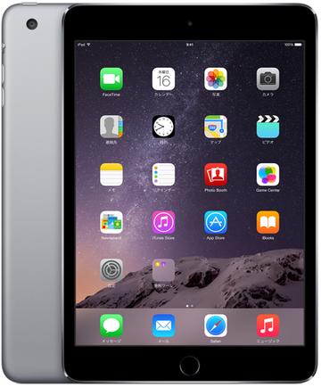 au iPad mini3 Cellular 128GB スペースグレイ MGJ22J/A