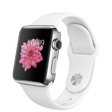 AppleApple Watch 38mm ステンレススチール/ホワイトスポーツバンド MJ302J/A