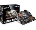 ASRockZ170M Pro4S Z170/LGA1151(DDR4)/M.2/MicroATX