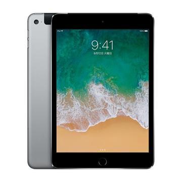 au iPad mini4 Cellular 64GB スペースグレイ MK722J/A
