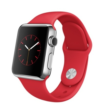 AppleApple Watch 38mm ステンレススチール/(PRODUCT)REDスポーツバンド MLLD2J/A