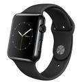 AppleApple Watch 42mm スペースブラックステンレススチール/ブラックスポーツバンド MLC82J/A