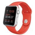AppleApple Watch Sport 42mm シルバーアルミニウム/オレンジスポーツバンド MLC42J/A
