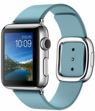 AppleApple Watch 38mm ステンレススチール/ブルージェイモダンバックル Lサイズ MMFC2J/A