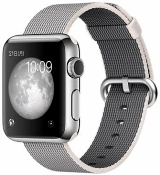 AppleApple Watch 38mm ステンレススチール/パールウーブンナイロン MMFH2J/A