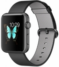 AppleApple Watch Sport 42mm スペースグレイアルミニウム/ブラックウーブンナイロン MMFR2J/A
