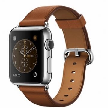 AppleApple Watch 38mm ステンレススチール/サドルブラウンクラシックバックル MMF72J/A