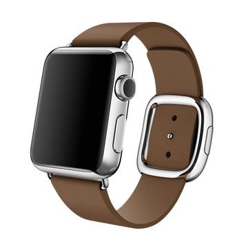 AppleApple Watch 38mm ステンレススチール/ブラウンモダンバックル Lサイズ MJ3D2J/A