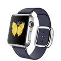 AppleApple Watch 38mm ステンレススチール/ミッドナイトブルーモダンバックル Sサイズ MJ332J/A