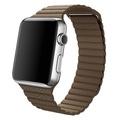 AppleApple Watch 42mm ステンレススチール/ライトブラウンレザーループ Mサイズ MJ402J/A