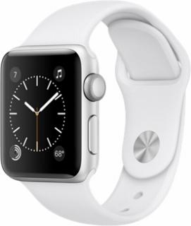 AppleApple Watch Series2 38mmシルバーアルミニウム/ホワイトスポーツバンド
