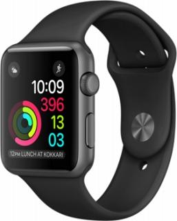 AppleApple Watch Series1 42mmスペースグレイアルミニウム/ブラックスポーツバンド