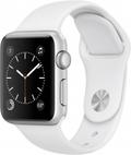 AppleApple Watch Series1 38mmシルバーアルミニウム/ホワイトスポーツバンド