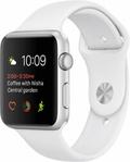 AppleApple Watch Series1 42mmシルバーアルミニウム/ホワイトスポーツバンド MNNL2J/A