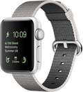 AppleApple Watch Series2 38mmシルバーアルミニウム/パールウーブンナイロン