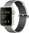 AppleApple Watch Series2 42mmシルバーアルミニウム/パールウーブンナイロン MNT32J/A