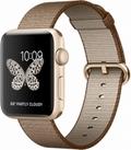 AppleApple Watch Series2 42mmゴールドアルミニウム/トーステッドコーヒー/キャラメルウーブンナイロン