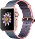 AppleApple Watch Series2 38mmローズゴールドアルミニウム/ライトピンク/ミッドナイトブルーウーブンナイロン