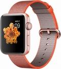 Apple Apple Watch Series2 42mmローズゴールドアルミニウム/スペースオレンジ/アントラシットウーブンナイロン