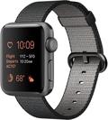 AppleApple Watch Series2 38mmスペースグレイアルミニウム/ブラックウーブンナイロン