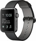 AppleApple Watch Series2 42mmスペースグレイアルミニウム/ブラックウーブンナイロン