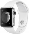 AppleApple Watch Series2 38mmステンレススチール/ホワイトスポーツバンド