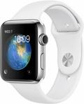 AppleApple Watch Series2 42mmステンレススチール/ホワイトスポーツバンド MNTX2J/A