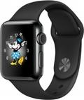 AppleApple Watch Series2 38mmスペースブラックステンレススチール/ブラックスポーツバンド MP4D2J/A