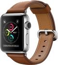 AppleApple Watch Series2 38mmステンレススチール/サドルブラウンクラシックバックル