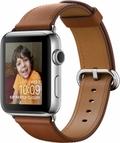 AppleApple Watch Series2 42mmステンレススチール/サドルブラウンクラシックバックル MNU12J/A