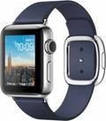 AppleApple Watch Series2 38mmステンレススチール/ミッドナイトブルーモダンバックル Mサイズ