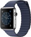 AppleApple Watch Series2 42mmステンレススチール/ミッドナイトブルーレザーループ Mサイズ MNU22J/A