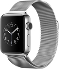AppleApple Watch Series2 38mmステンレススチール/ミラネーゼループ