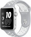 AppleApple Watch Series2 Nike+ 42mmシルバーアルミニウム/フラットシルバー/ホワイトNikeスポーツバンド