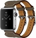 AppleApple Watch HERMES Series2 38mmダブルバックルカフ ヴォースウィフト(エトゥープ)レザー MNTW2J/A