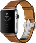 AppleApple Watch HERMES Series2 42mmシンプルトゥールディプロイアントバックル ヴォーバレニア(フォーヴ)