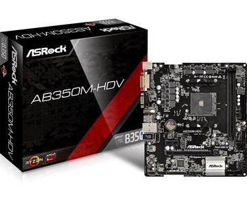 ASRockAB350M-HDV B350/AM4/MicroATX