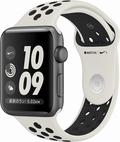 AppleApple Watch Series2 NikeLab 42mmスペースグレイアルミニウム/ライトボーン/ブラックスポーツバンド