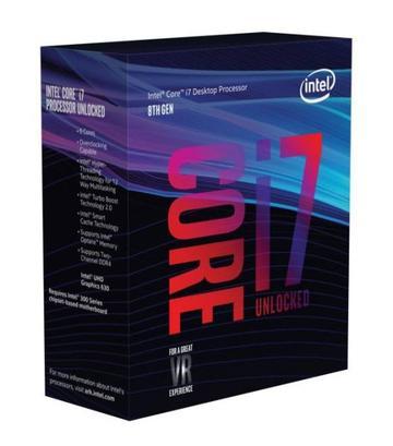 IntelCore i7-8700K(3.7GHz/TB:4.7GHz)BOX LGA1151/6C/12T/L3 12M/UHD630/TDP95W