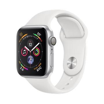 AppleApple Watch Series4 40mm GPS シルバーアルミニウム/ホワイトスポーツバンド MU642J/A