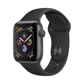 AppleApple Watch Series4 40mm GPS スペースグレイアルミニウム/ブラックスポーツバンド MU662J/A