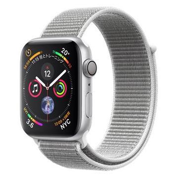 AppleApple Watch Series4 44mm GPS シルバーアルミニウム/シーシェルスポーツループ MU6C2J/A
