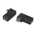 変換名人USBMC-LLF 変換プラグ microUSB→microUSB左L型(フル結線)