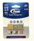 TeamTC143364GN01 64GB USB3.0メモリ ペンドライブディスク 回転式