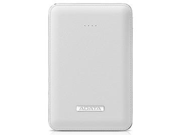 A-DATAAPV120-5100M-5V-CWH 5100mAhモバイルバッテリー 入力2A 出力2.1A+1A 2ポート ホワイト