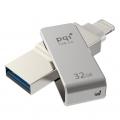 PQIICMINVGY-32 iConnect mini ライトニング/USB3.0メモリ 32G グレー